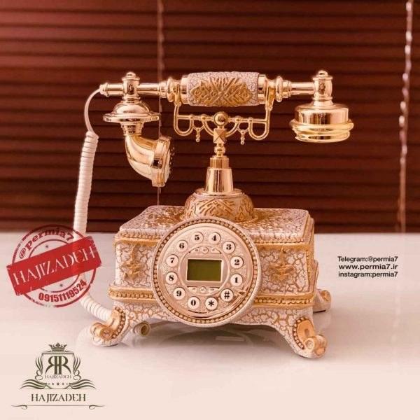 تصویر مایر تلفن رومیزی سفید طلایی   Z001A