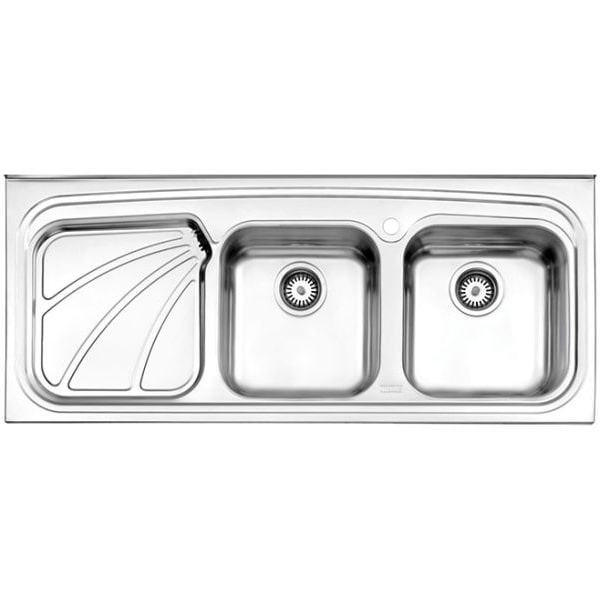 سینک ظرفشویی استیل البرز مدل 612/50 روکار |