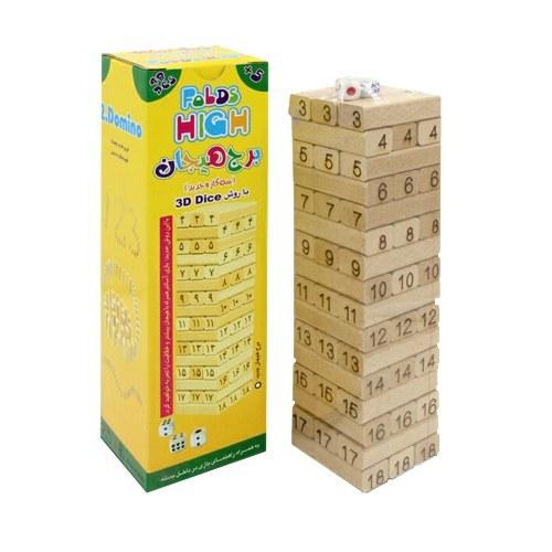 عکس بازی فکری برج هیجان مدل 3D Dice  بازی-فکری-برج-هیجان-مدل-3d-dice