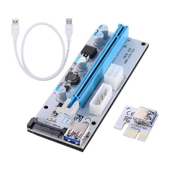 main images رایزر کارت گرافیک تبدیل پورت PCI 1X به 16X مدل 008s