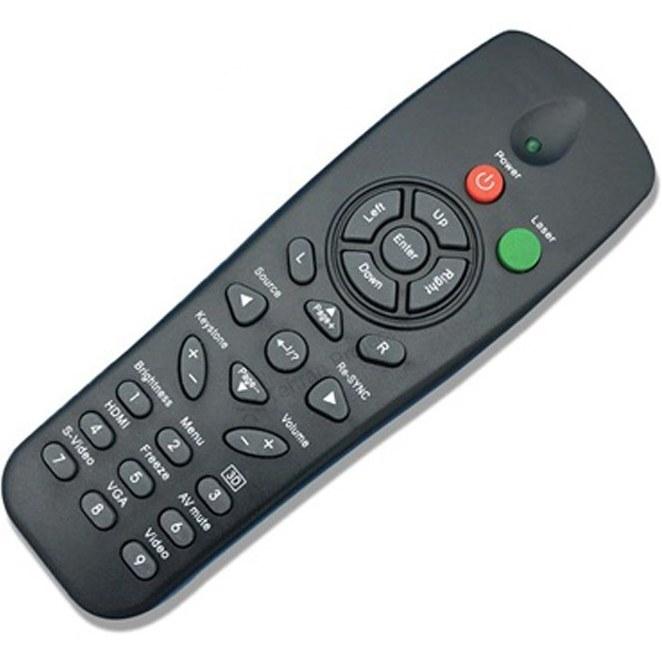 تصویر ریموت کنترل ویدئو پروژکتور اوپتما کد 3 – Optoma projector remote control