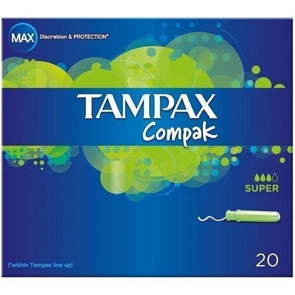 عکس تامپون تامپکس TAMPAX Compak Regular Tampon تامپون-تامپکس