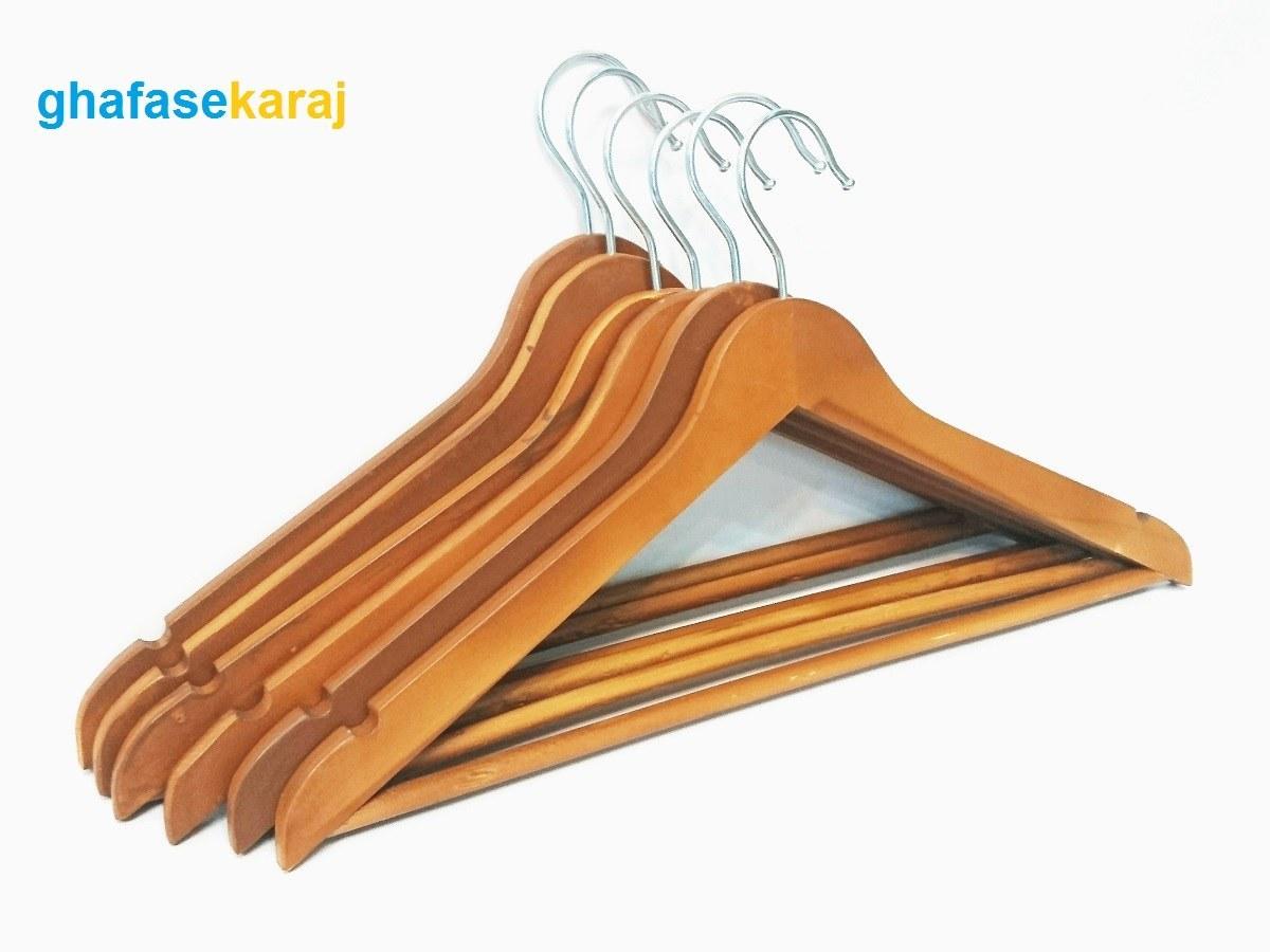 تصویر چوب لباسی چوبی