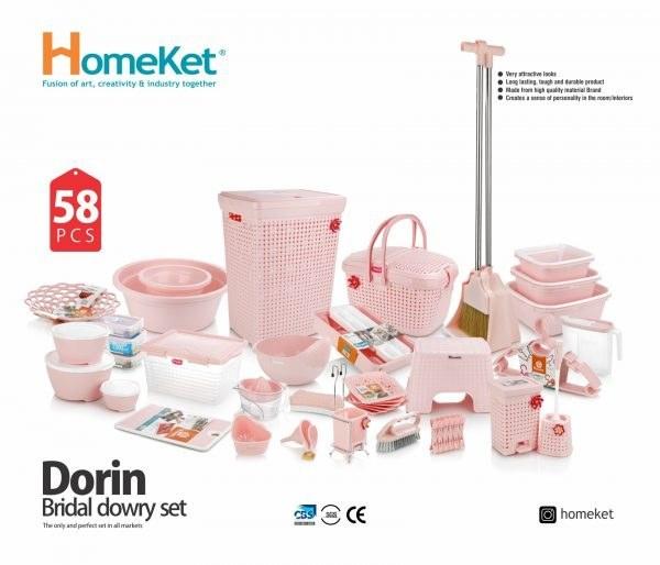 تصویر سرویس جهیزیه 58 پارچه Dorin (هوم کت)