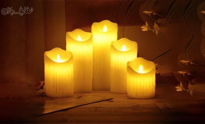 شمع پلاستیکی شعله متحرک باتری خور LED Plastic Swinging Candle در ۵ سایز تا ۵۰% تخفیف و  