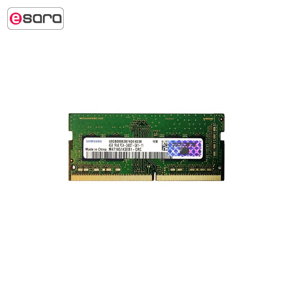 رم لپ تاپ سامسونگ مدل DDR4 2400 Mhz SODIMM ظرفیت 4 گیگابایت   Samsung DDR4 2400 MHz SODIMM RAM - 4GB