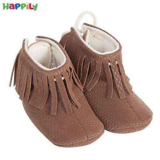 کفش نوزادی ریش دار سایز 2 قهوه ای 612221 |