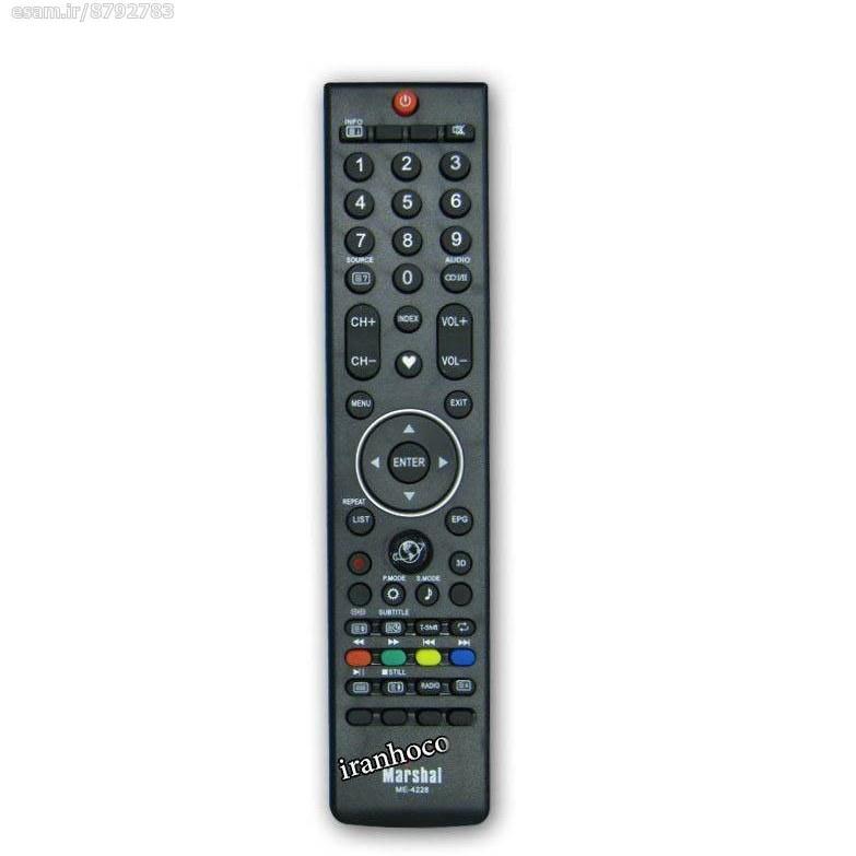عکس کنترل تلویزیون ال ای دی LED مارشال مدل 4228  کنترل-تلویزیون-ال-ای-دی-led-مارشال-مدل-4228