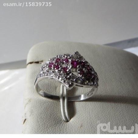 انگشتر  زنانه نقره سولیتر بسیار ظریف و زیبا بانگین های کوارتزرنگی مدروز | انگشتر زنانه نقره سولیتر مجلسی تایلندی 2.07g