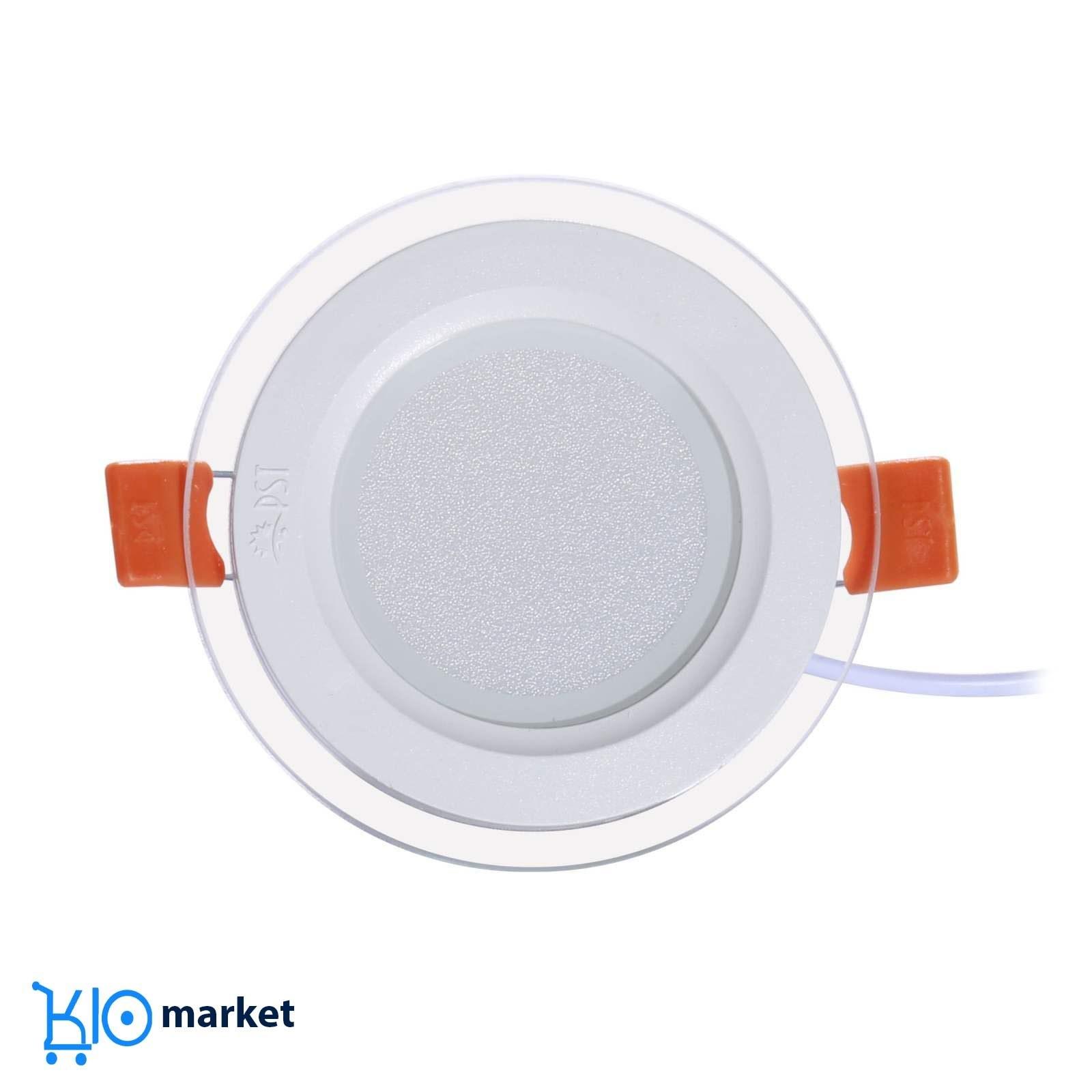 تصویر چراغ پنلی SMD توکار ۹ وات دایره ای پارس شعاع توس مدل گلاریس