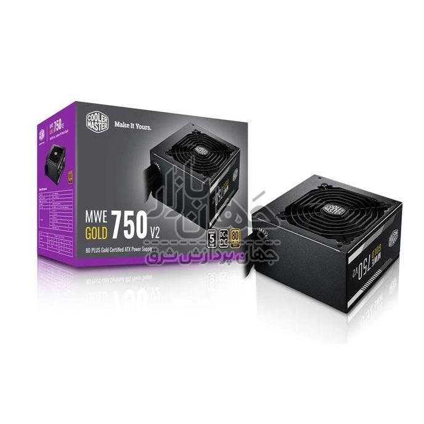 تصویر پاور ماینینگ 750 وات کولرمستر Cooler Master MWE GOLD 750 (COOLER MASTER MWE Gold 750-80 PLUS Gold 750W-No Modular)
