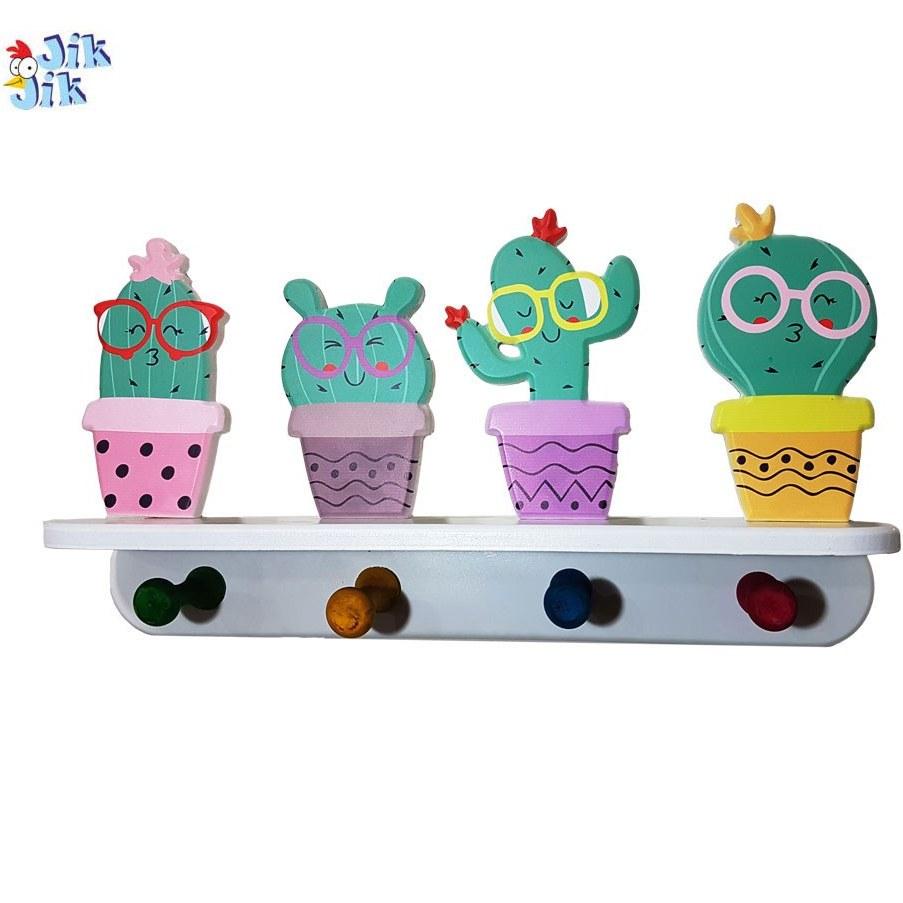 تصویر چوب لباسی کودک طرح کاکتوس Baby Cactus Design Hangers