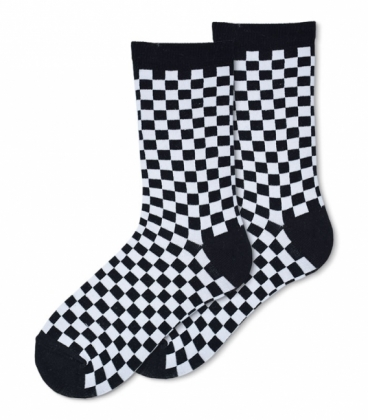 جوراب ساقدار Ekmen طرح چهارخانه ریز مشکی |