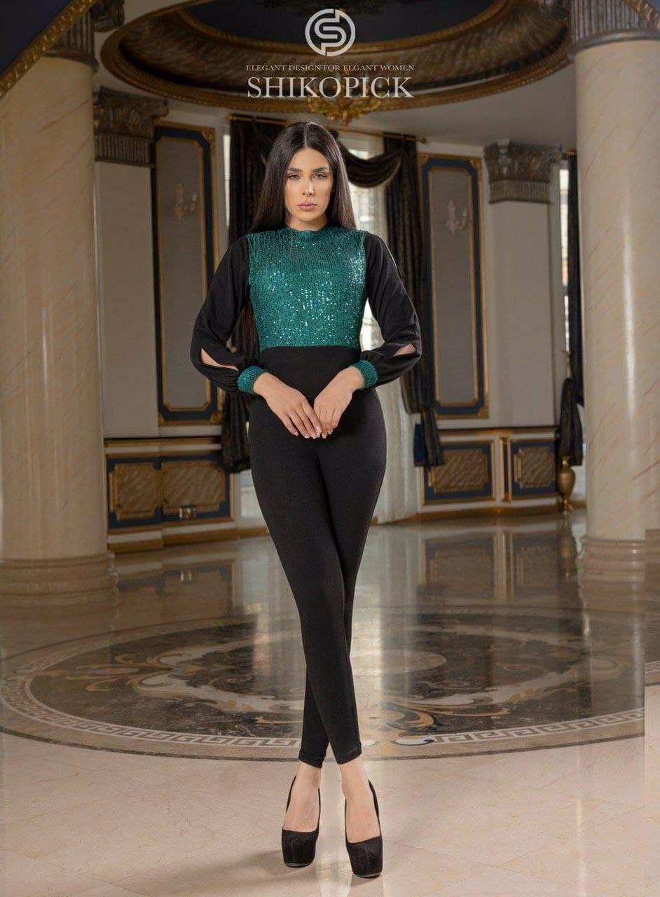 تصویر لباس مجلسی شیک و پیک مدل مریم اورال