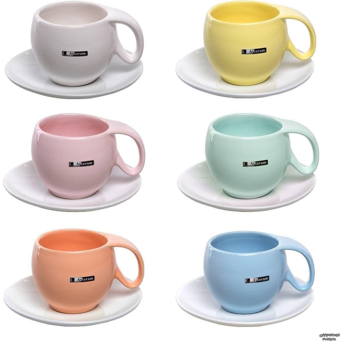تصویر ست فنجان نعلبکی رنگی آیسرام ا کدکالا 4420 کدکالا 4420