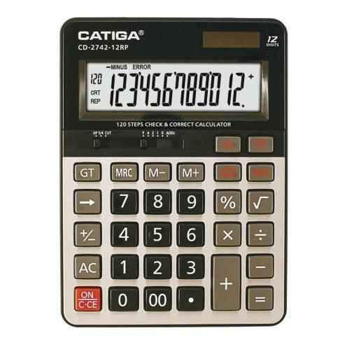 تصویر ماشین حساب رومیزی مدل CD-2742-12RP کاتیگا