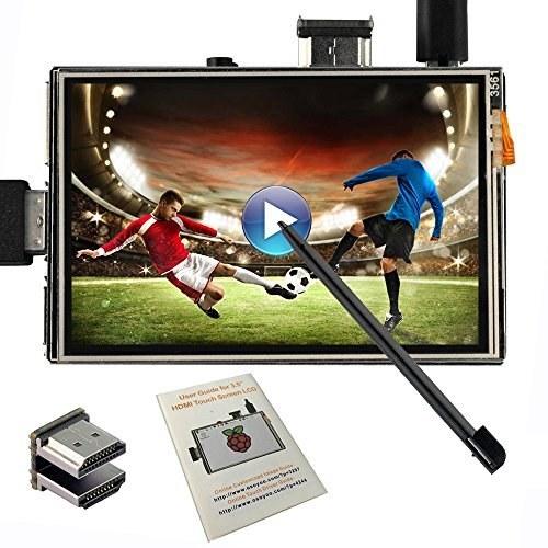 """تصویر صفحه نمایش لمسی OSOYOO LCD 3.5 """"HDMI مانیتور TFT برای خروجی صوتی Raspberry Pi 3 2 Model B با قلم قلم"""