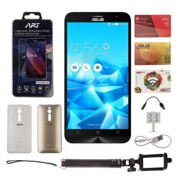 گوشی موبایل ایسوس مدل Zenfone 2 Plus Deluxe دو سیمکارت ظرفیت 64 گیگابایت به همراه باندل Miracle | Asus Zenfone 2 Plus Deluxe Dual SIM 64GB Mobile Phone With Miracle Bundle
