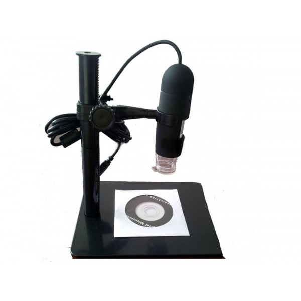 تصویر میکروسکوپ دیجیتال 1000X USB Digital Microscope پایه ثابت مارک HLOT