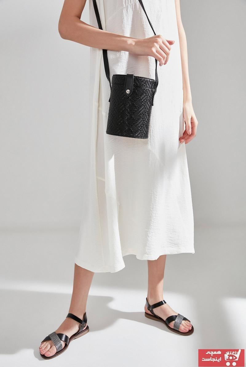 تصویر خرید انلاین کیف دستی جدید دخترانه اصل برند هاتیچ اورجینال رنگ مشکی کد ty6854077