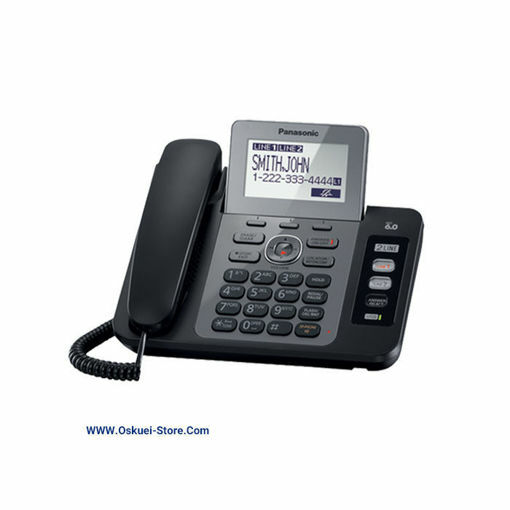 تصویر تلفن رومیزی دو خط پاناسونيک مدل KX-TG9470 RB