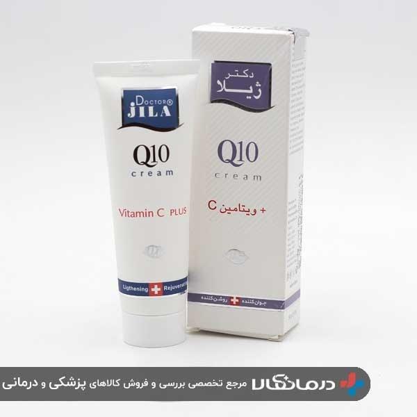 تصویر کرم ضد چروک دکتر ژیلا سری Q10 مدل Vitamin C Plus حجم 50 میل Dr.Jila Q10 + Vitamin C Cream