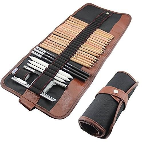 مجموعه 18تایی مدادهای طراحی به همراه لوازم جانبی - فینکس |
