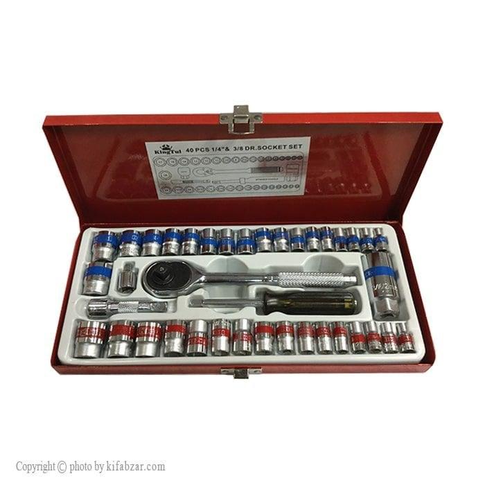جعبه بکس 40 پارچه کینگ تولز مدل KIT40 |