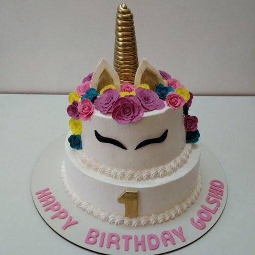 کیک تولد اسب تک شاخ |