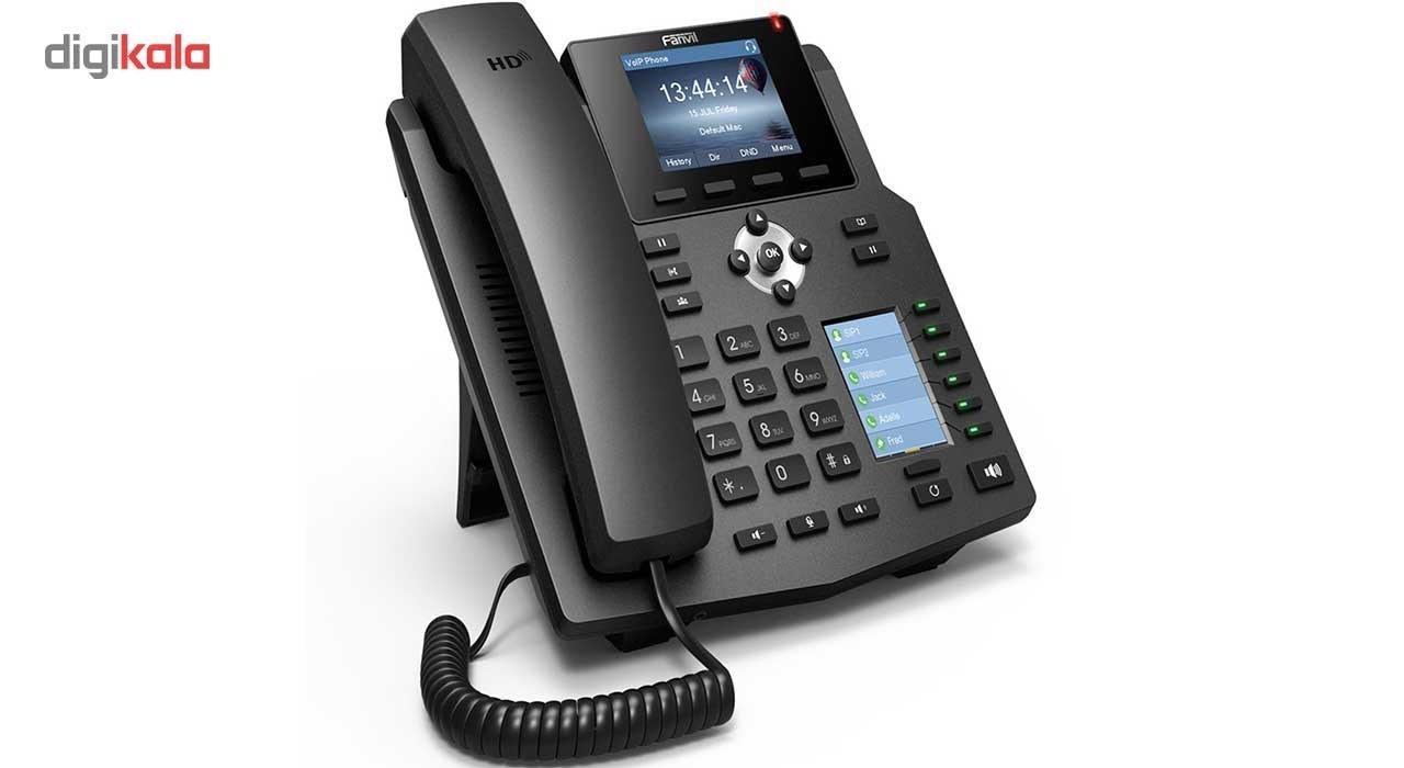 img تلفن تحت شبکه باسیم فنویل مدل X4 Fanvil X4 4-Line Corded IP Phone