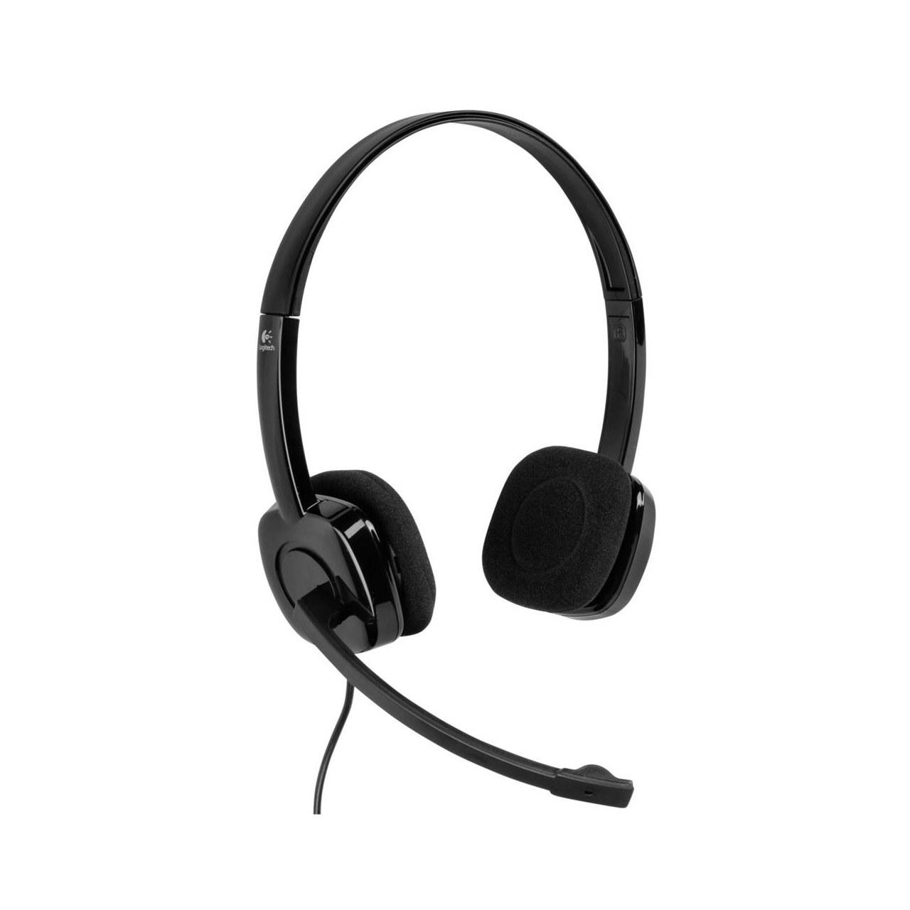 تصویر هدست روگوشی استریو لاجیتک مدل H151 Logitech H151 Stereo On-Ear Headset