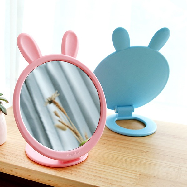 main images آینه رومیزی خرگوشی پایه دار