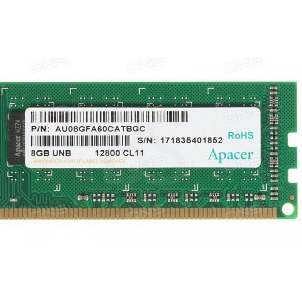 رم لپ تاپ DDR3 اپیسر 8 گیگابایت با فرکانس 1600 مگاهرتز   Apacer DDR3-1600 8GB PC3L-12800 CL11