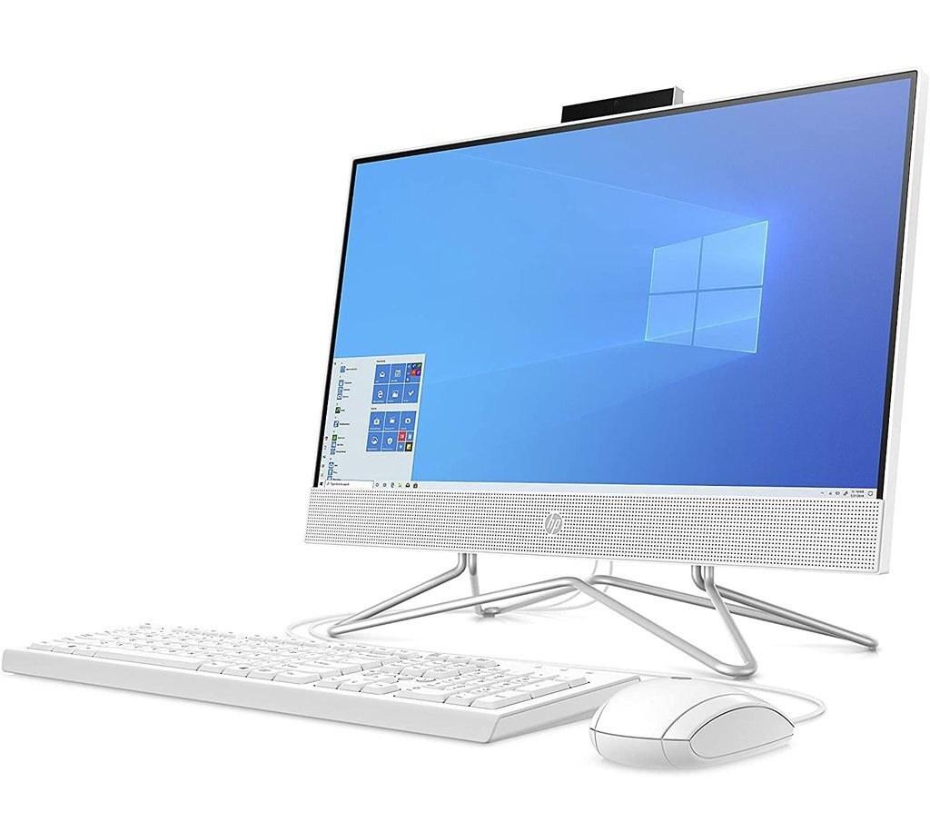 تصویر کامپیوتر همه کاره 22 اینچی اچ پی مدل AIO22-df0256nh HP AIO22-df0256nh 22 inch Touch All in One Desktop