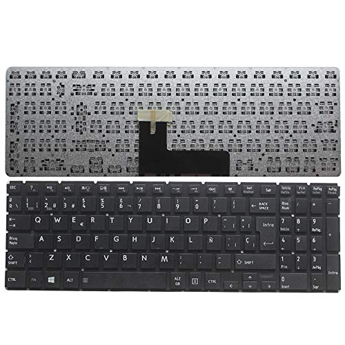 New Laptop Replacement Keyboard for Toshiba Satellite P50D-C P50T-C P55-C P55T-C S50-B S50D-B S50DT-B S50T-B S55-B S55T-B S55T-B5273NR (Spanish Version)