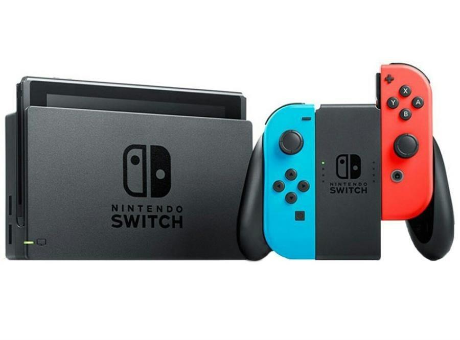 تصویر مجموعه کنسول بازی نینتندو مدل Switch Neon Blue and Neon Red Joy-Con Nintendo Switch With Neon Blue and Neon Red Joy Con Bundle Game Console