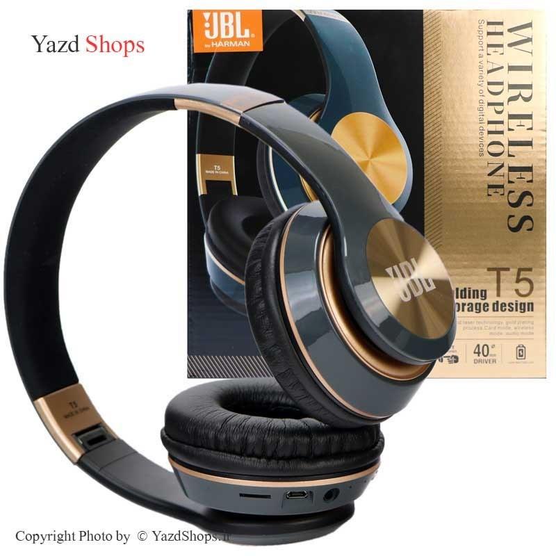 عکس هدفون بلوتوثی و رم خور JBL T5 JBL T5 wireless headphone هدفون-بلوتوثی-و-رم-خور-jbl-t5