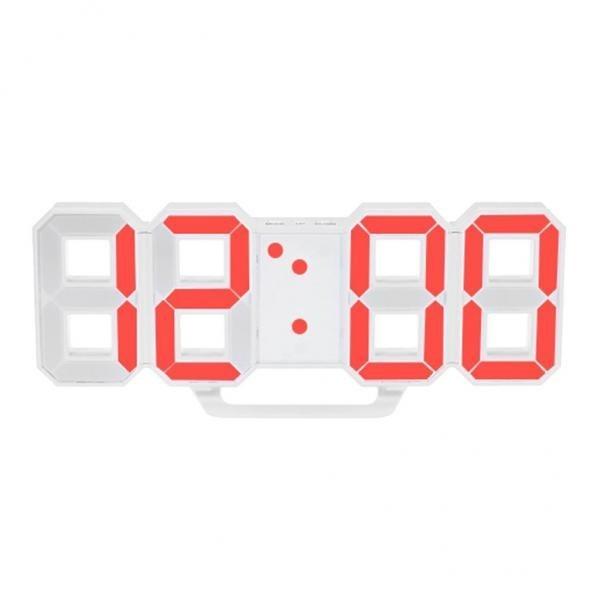 تصویر ساعت دیواری و رومیزی بدنه سفید مدل X Segment Clock