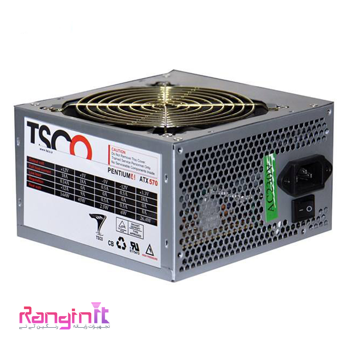 تصویر TSCO TP 570W Computer Power Supply TSCO TP 570W Computer Power Supply