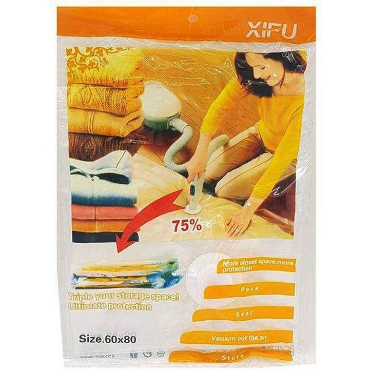تصویر کیسه وکیوم رخت خواب و لباس مدل mhp1242 ابعاد 60*80