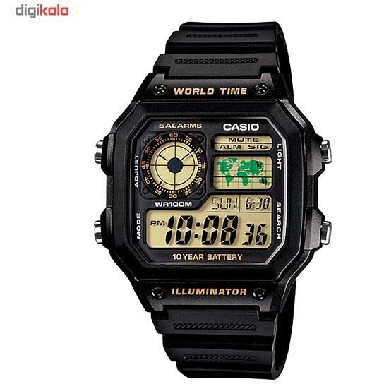 img ساعت مچی دیجیتالی کاسیو AE-1200WH-1BVDF Casio AE-1200WH-1BVDF