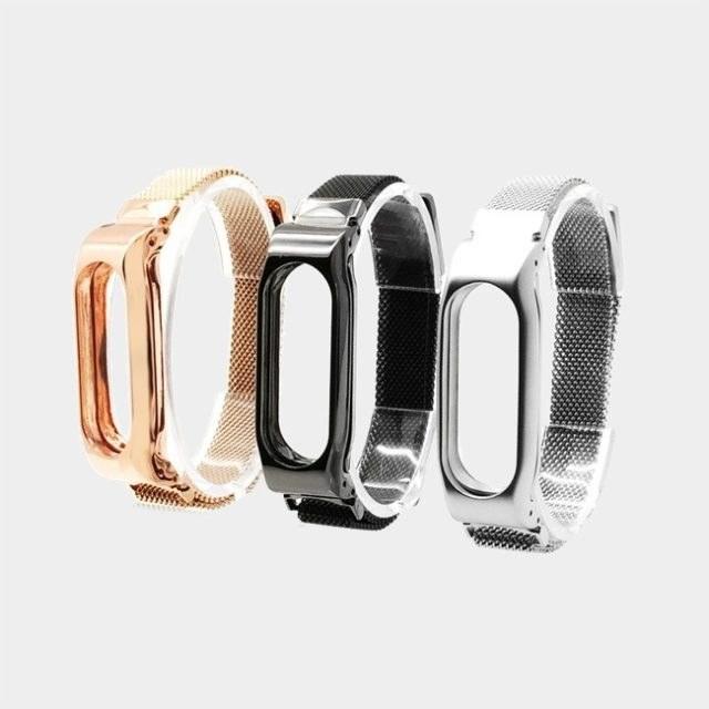 بند بافت ریز فلزی دستبند سلامتی شیائومی مدل Mi Band 2   Xiaomi Mi Band 2 WovenMetal Strap