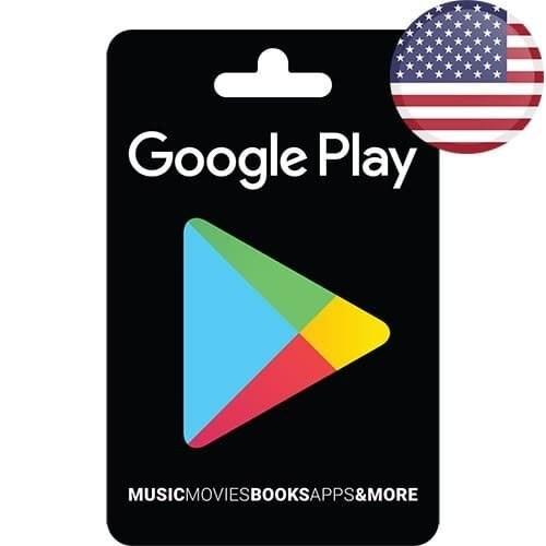 تصویر گیفت کارت گوگل پلی آمریکا – USD