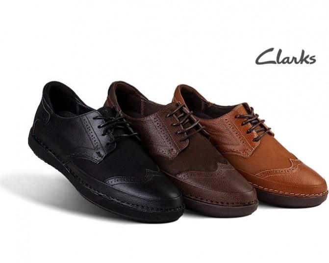 کفش چرم طبیعی مردانه Clarks