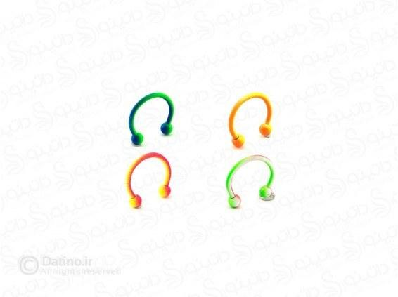 تصویر پیرسینگ بینی و گوش رنگی ساده zarrin-p-40