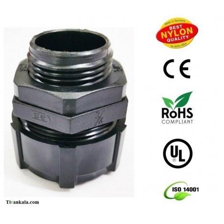 تصویر گلند آب بندی نایلونی لوله خرطومی فلزی (ip67)