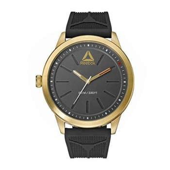 ساعت مچی آنالوگ ریبوک مدل black silicone band, gold case