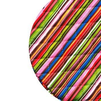 دم کني کتان کشدار 2 تکه رزين تاژ طرح راه راه رنگي | Rezin Taj 2 Pieces Colorful Striped Denim Elastic Steam Tight