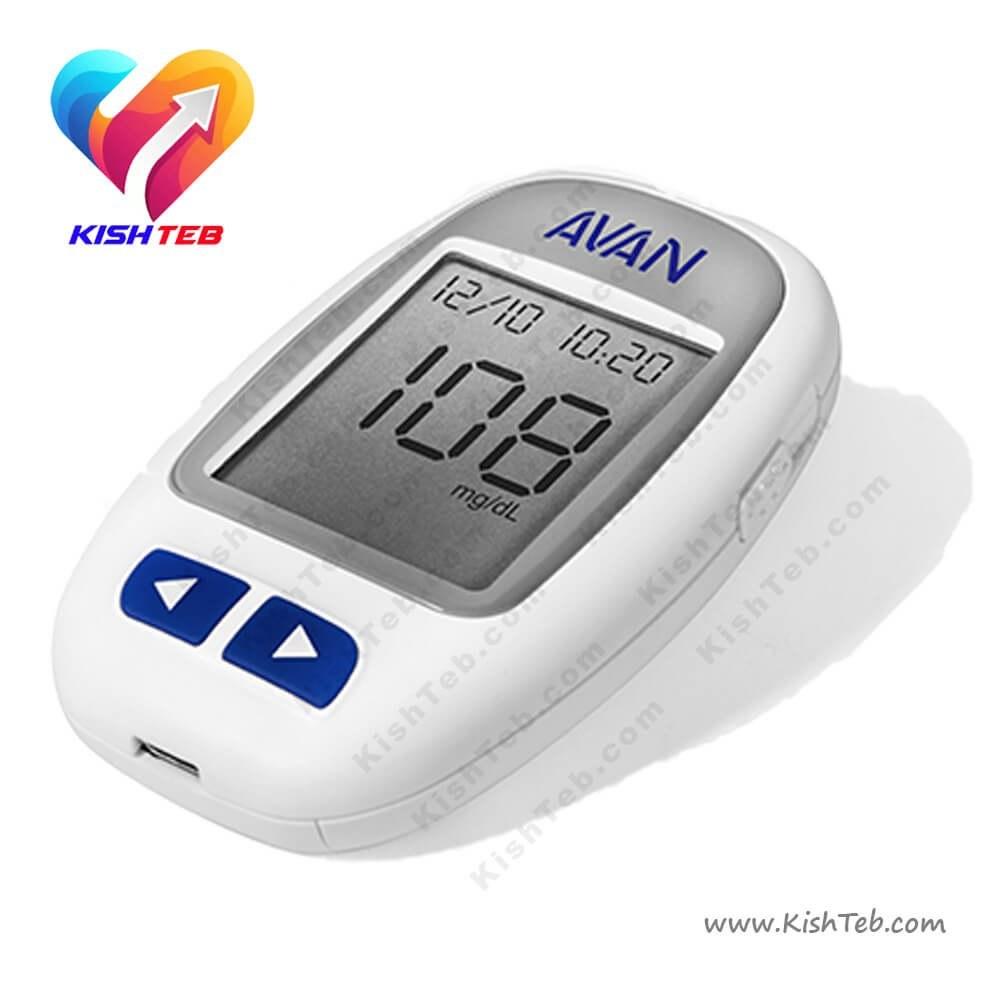 تصویر دستگاه تست قند خون آوان Avan blood glucose monitoring system