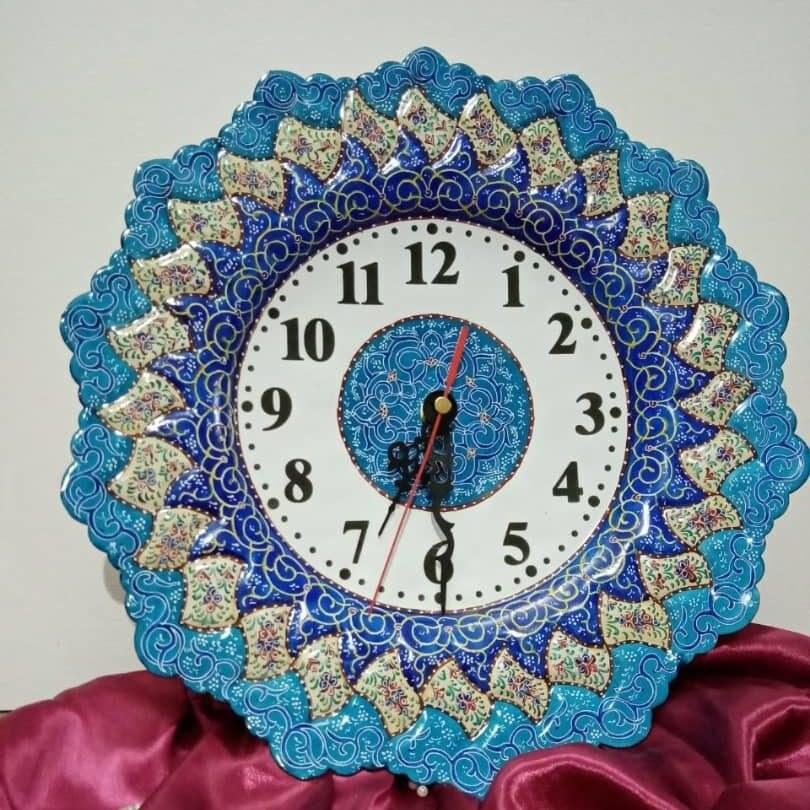 تصویر ساعت میناکاری ۳۰ سانتی